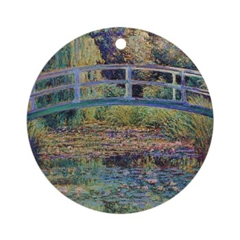 Water Lily Pond by Monet Round Ornament