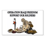 OIF Support our Soldiers Sticker (Rectangular)
