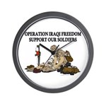 OIF Support our Soldiers Wall Clock