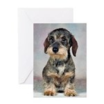 Wirehaired Dachshund Greeting Cards