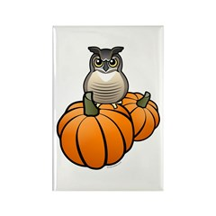 Birdorable GHOW Pumpkins Rectangle Magnet