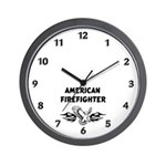 American Firefighter Wall Clock