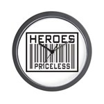 Heroes Priceless Support Our Troops Wall Clock