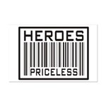 Heroes Priceless Support Our Troops Mini Poster Pr