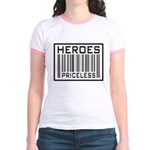 Heroes Priceless Support Our Troops Jr. Ringer T-S