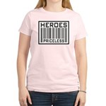 Heroes Priceless Support Our Troops Women's Light