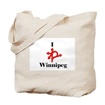 To hold the bounty... this tote bag from Weirdos of Winnipeg