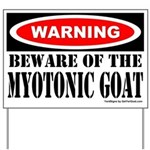 Beware Myotonic Goat Yard Sign