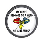 Navy Hero Africa Wall Clock
