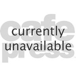 Adorable teddy bear for a fireman's wife features firefighting symbol and heart.