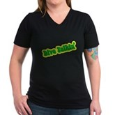 Dive Talkin' Women's V-Neck Dark T-Shirt