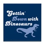 Gettin' Down With Dinosaurs Tile Coaster