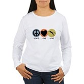 Peace Love Dive Women's Long Sleeve T-Shirt