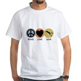 Peace Love Dive White T-Shirt