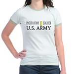 2LT - Proud of my soldier Jr. Ringer T-Shirt
