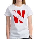 Scuba Flag Letter W Women's T-Shirt