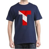 Scuba Flag Letter T Dark T-Shirt