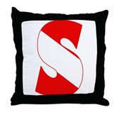 Scuba Flag Letter S Throw Pillow
