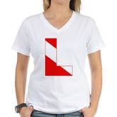Scuba Flag Letter L Women's V-Neck T-Shirt
