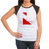 Scuba Flag Letter L Women's Cap Sleeve T-Shirt
