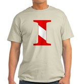 Scuba Flag Letter I Light T-Shirt