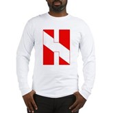 Scuba Flag Letter H Long Sleeve T-Shirt