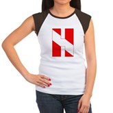 Scuba Flag Letter H Women's Cap Sleeve T-Shirt