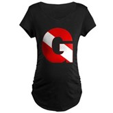 Scuba Flag Letter G Maternity Dark T-Shirt