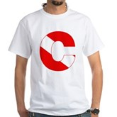 Scuba Flag Letter C White T-Shirt