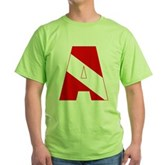 Scuba Flag Letter A Green T-Shirt