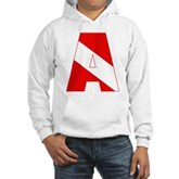 Scuba Flag Letter A Hooded Sweatshirt