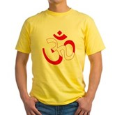 Scuba Flag Om / Aum Yellow T-Shirt