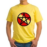 Scuba Flag Pentagram Yellow T-Shirt