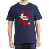 Scuba Flag Euro Sign Dark T-Shirt