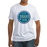 10000 Dives Milestone Fitted T-Shirt