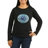50 Logged Dives Women's Long Sleeve Dark T-Shirt