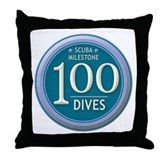 100 Dives Milestone Throw Pillow