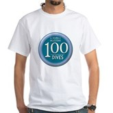 100 Dives Milestone White T-Shirt