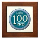 100 Dives Milestone Framed Tile