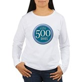 500 Dives Milestone Women's Long Sleeve T-Shirt