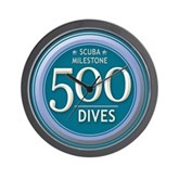 500 Dives Milestone Wall Clock