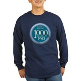1000 Dives Milestone Long Sleeve Dark T-Shirt