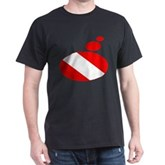 Thought Bubble Dive Flag Dark T-Shirt