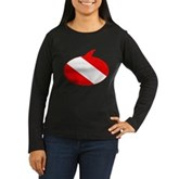 Text Bubble Dive Flag Women's Long Sleeve Dark T-S