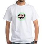 Pirate Panda White T-Shirt