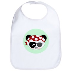 Pirate Panda Bib