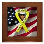 For Julie Custom Military Framed Tile