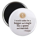 """Elizabeth Marriage Quote 2.25"""" Magnet (10 pack)"""