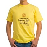 Elizabeth Marriage Quote Yellow T-Shirt