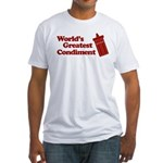 World's Greatest Condiment Fitted T-Shirt